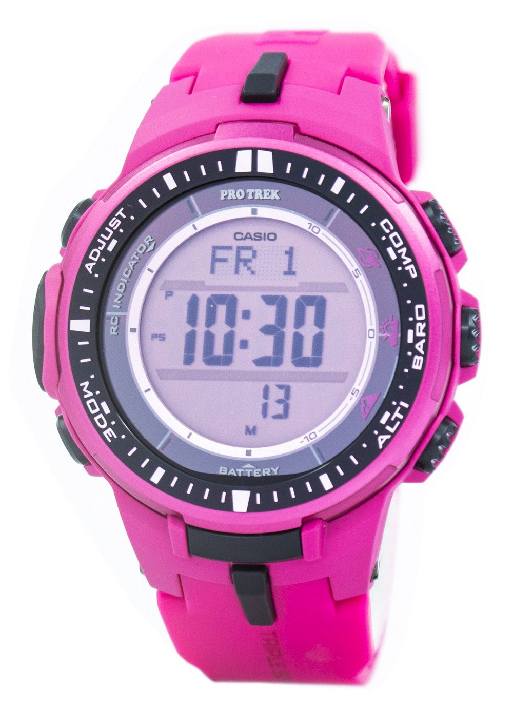 Casio Protrek Atomic Tough Solar Triple Sensor Pink PRW-3000-4B PRW3000-4B Watch