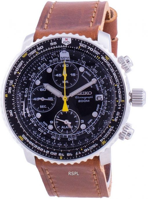 Seiko Pilot's Flight SNA411P1-VAR-LS9 Quartz Chronograph 200M Men's Watch