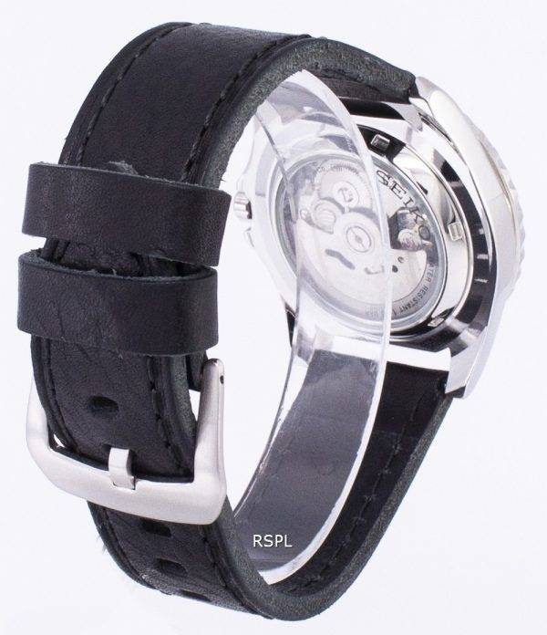 Seiko 5 Sports Automatic Ratio Black Leather SNZF15K1-LS8 Men's Watch