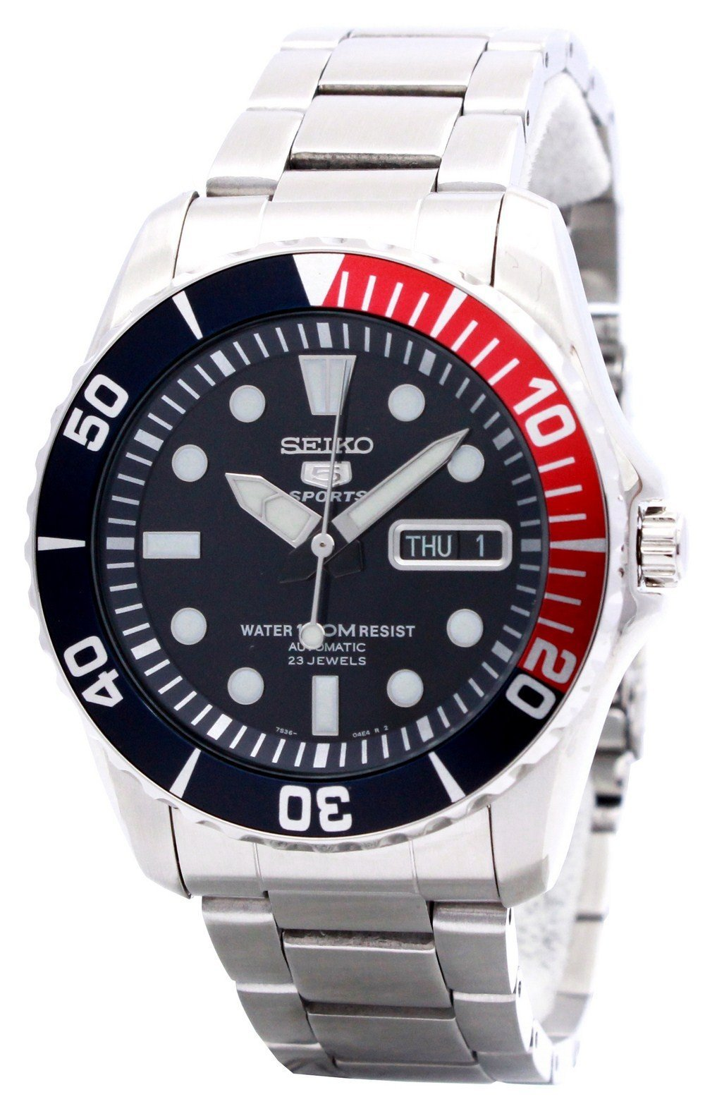Seiko Automatic Divers 23 Jewels 100m Watch SNZF15 SNZF15K1 SNZF15K Men's Watch