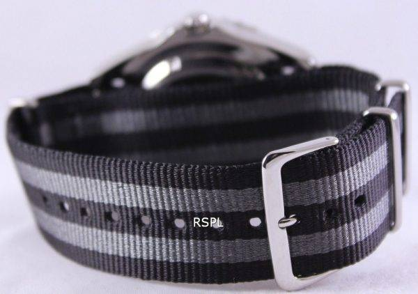 Grey And Black Nato Strap 22mm