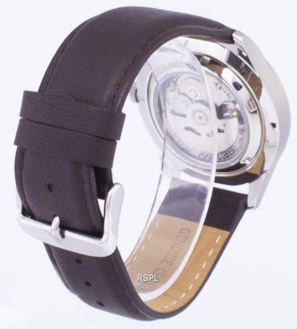 Seiko 5 Sports Automatic Ratio Dark Brown Leather SNZG15K1-LS11 Men's Watch