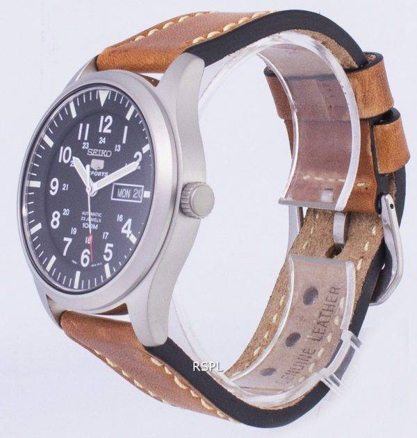 Seiko 5 Sports SNZG15K1-LS17 Automatic Brown Leather Strap Men's Watch