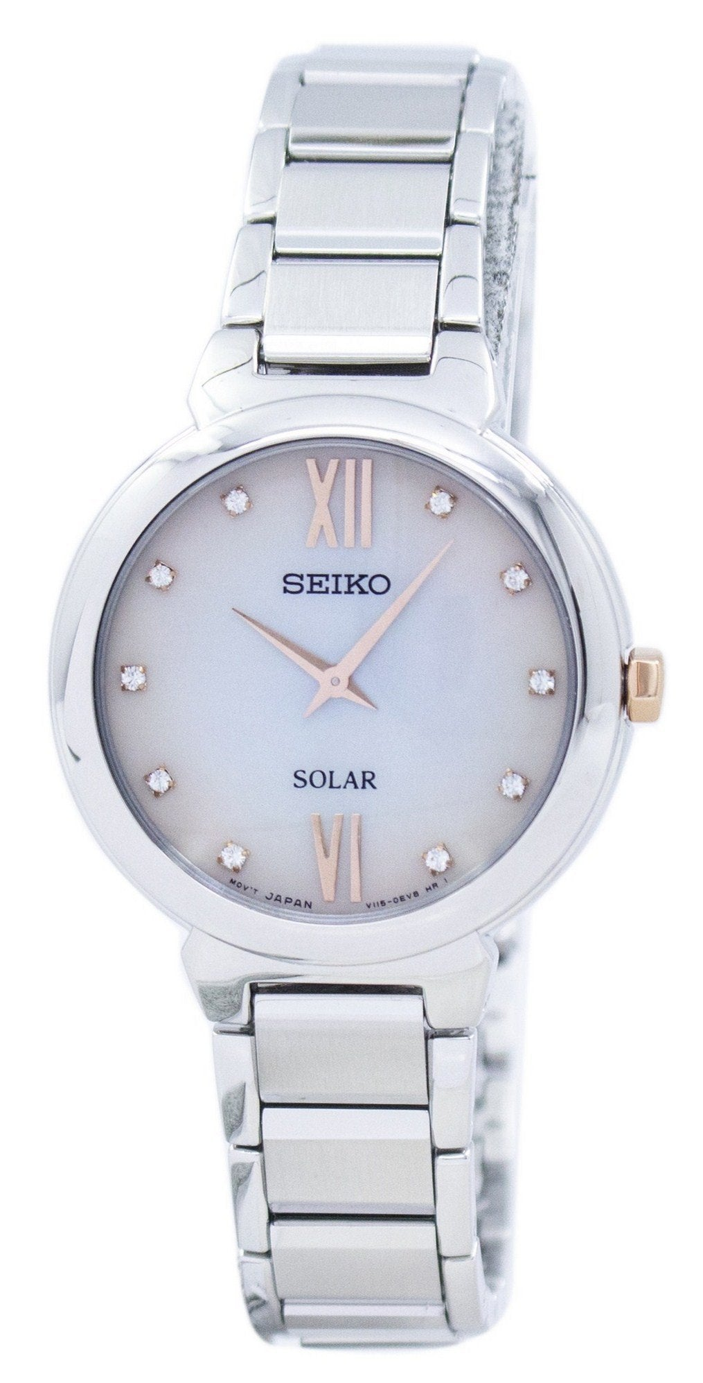 Seiko Solar Diamond Accent SUP381 SUP381P1 SUP381P Women's Watch
