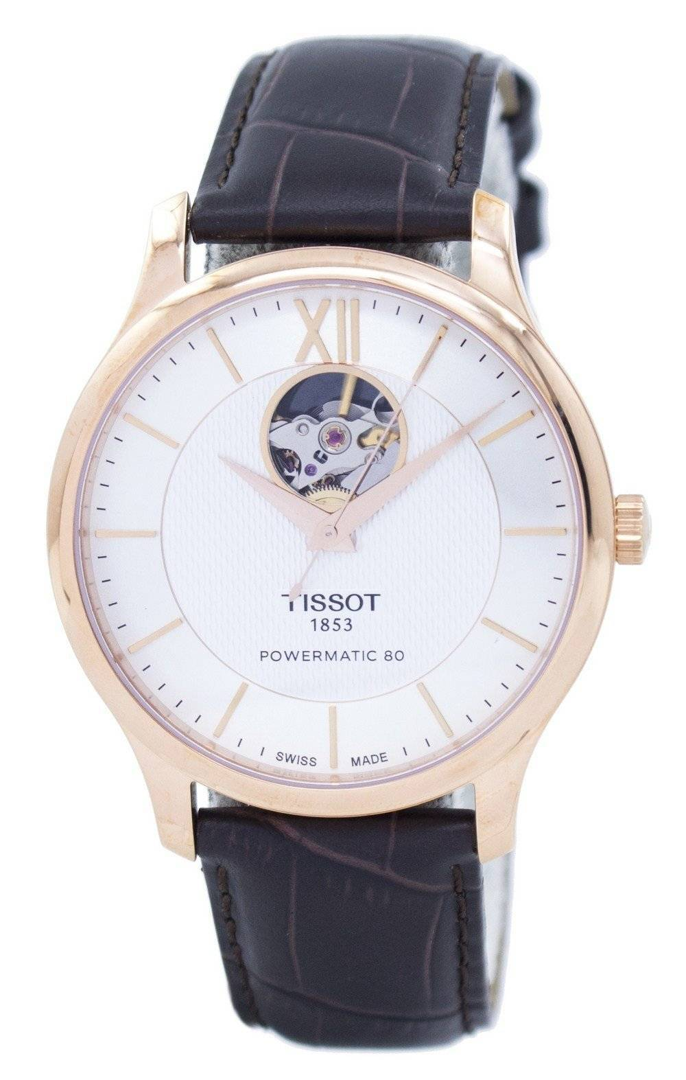 T-Classic Tradition Open Heart Automatic T063.907.36.038.00 T0639073603800 Men's Watch