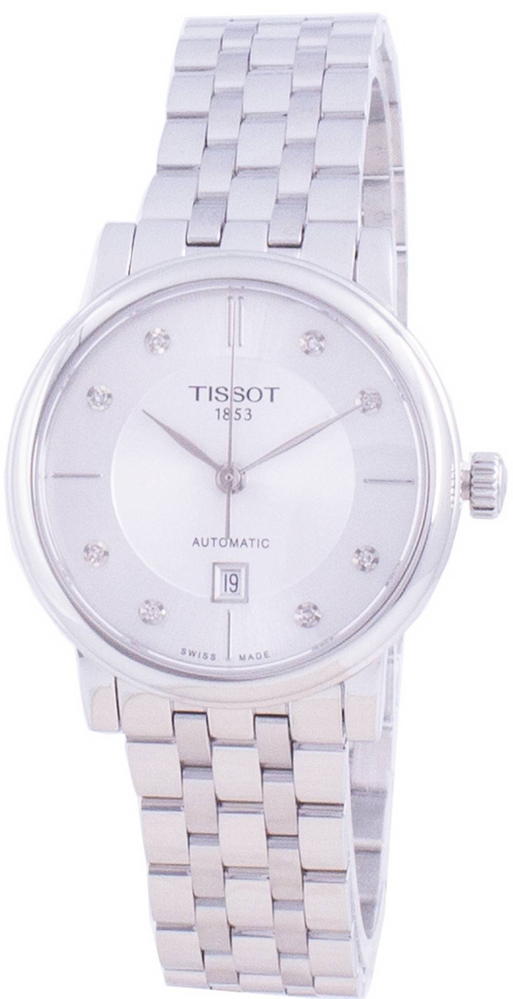 T-Classic Carson T122.207.11.036.00 T1222071103600 Automatic Diamond Accents Women's Watch