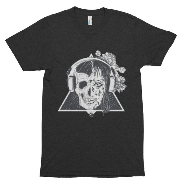 Headphone Skull Short sleeve soft t-shirt