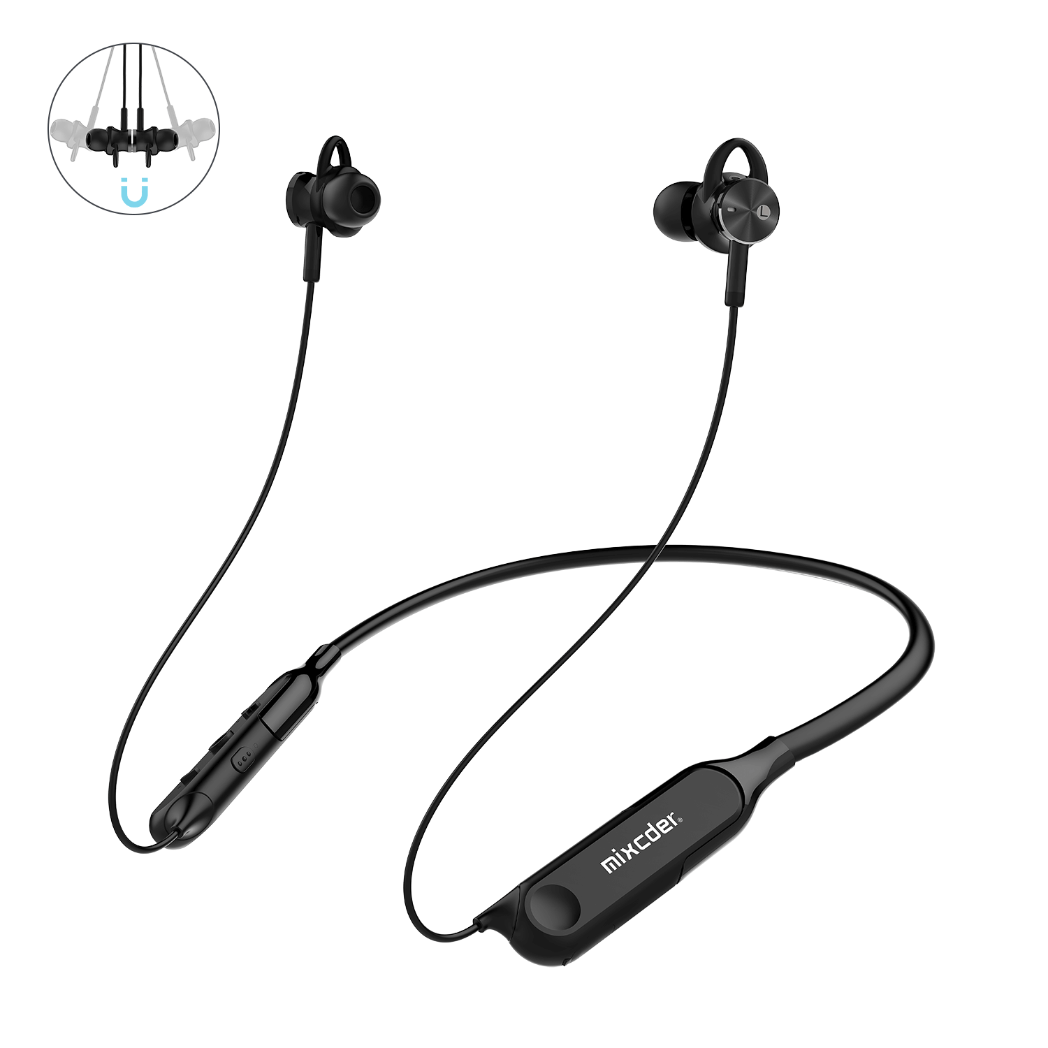 Mixcder RX Active Noise Cancelling Wireless Bluetooth Earphones with Magnetic Design