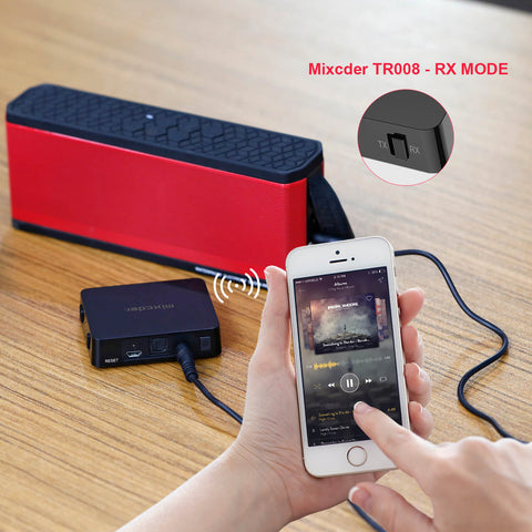Mixcder TR008 Bluetooth 4.2 APTX 2-in-1 Transmitter Receiver