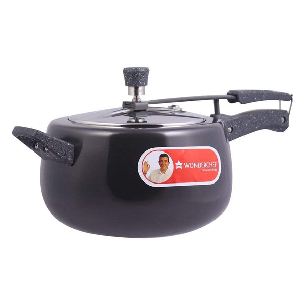 Wonderchef Taurus Hard Anodized Inner Lid Pc 5 L With Ind