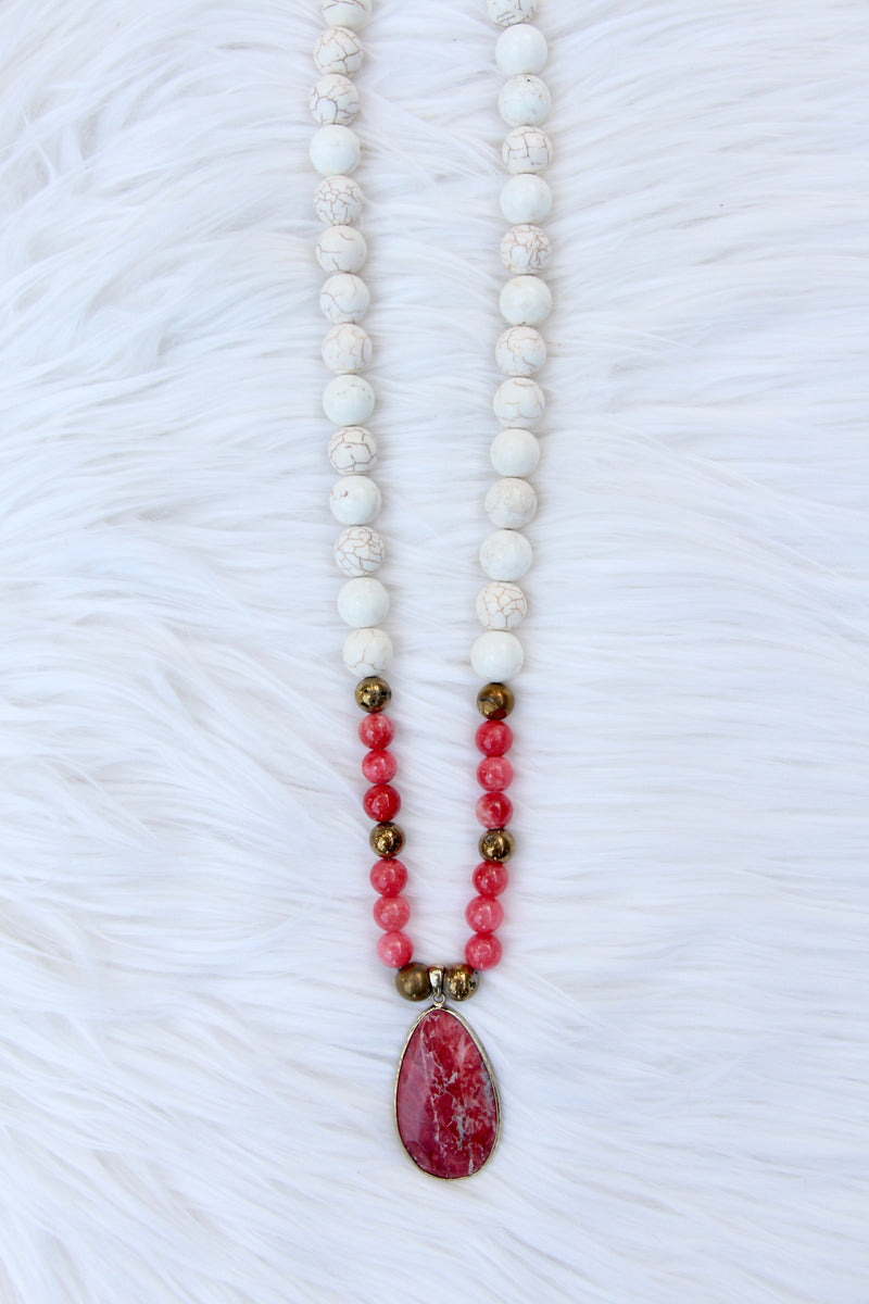 Pink Jasper and White Howlite