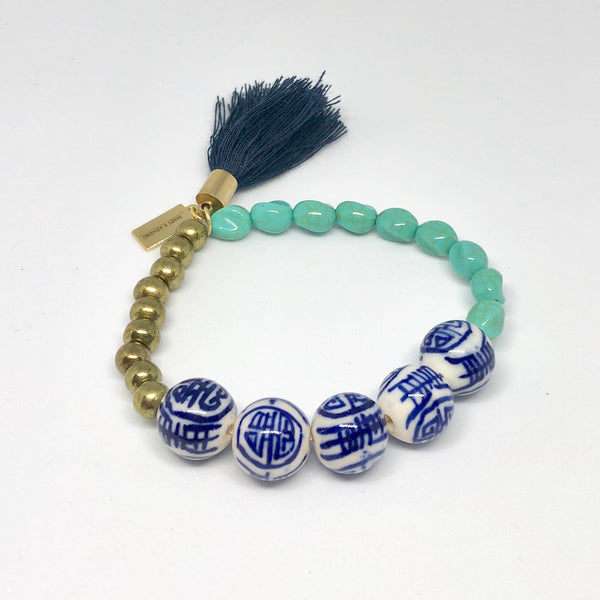 Chinoiserie and Teal Bead