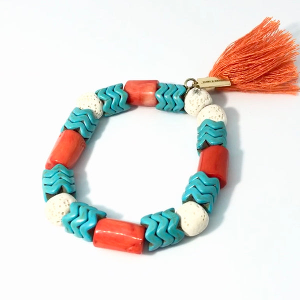 Orange Coral with Tassel