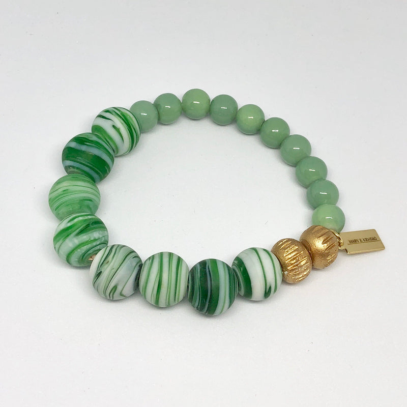 Jade And Emerald Stripe