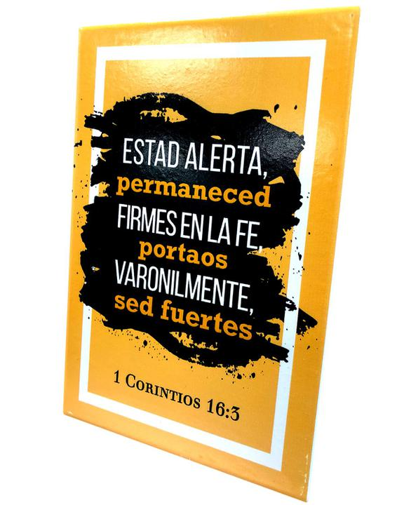 "Plaque De Ceramica ""1 Corintios 16:3"""
