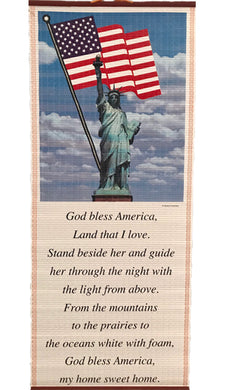 God bless America-Pergamino/Wall Scroll