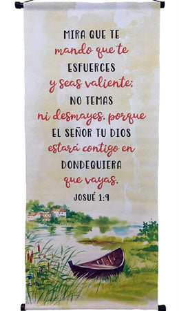 Mira que te mando que te esfuerces-Josue 1: 9 -Banner-Wall Scroll