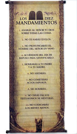 Los 10 Mandamientos-Banner-Wall Scroll