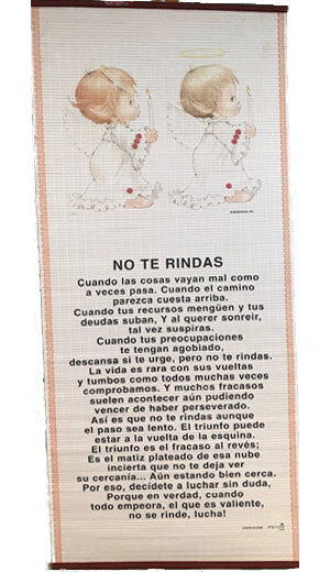 No Te Rindas-Pergamino/Wall Scroll