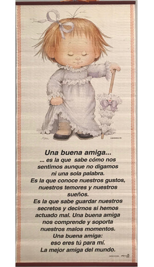 Una buena amiga...-Pergamino/Wall Scroll