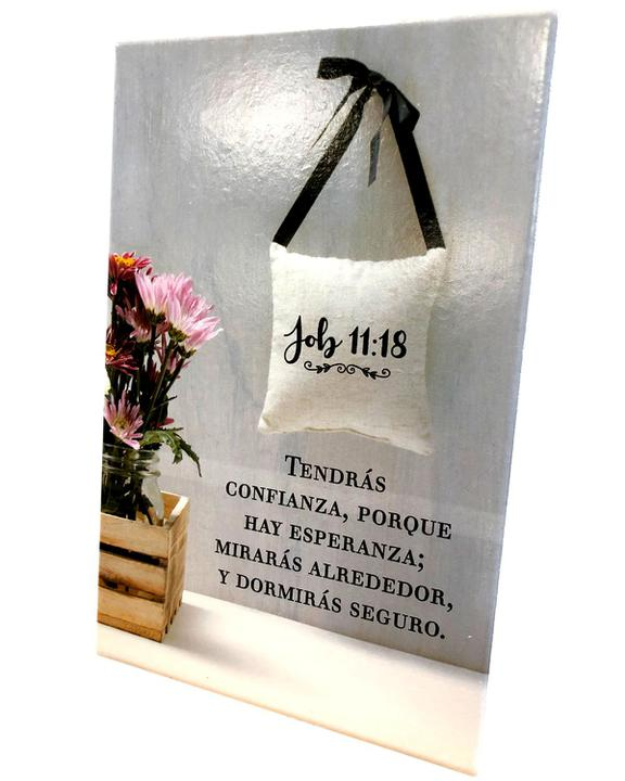 "Plaque De Ceramica ""Job 11:18"""