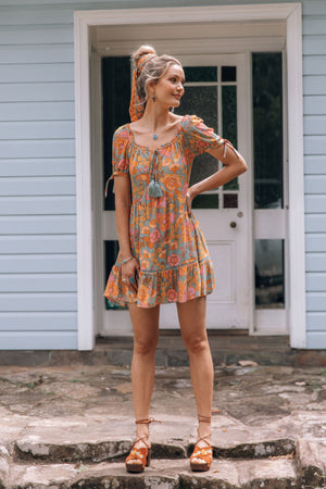 boho floral sundress