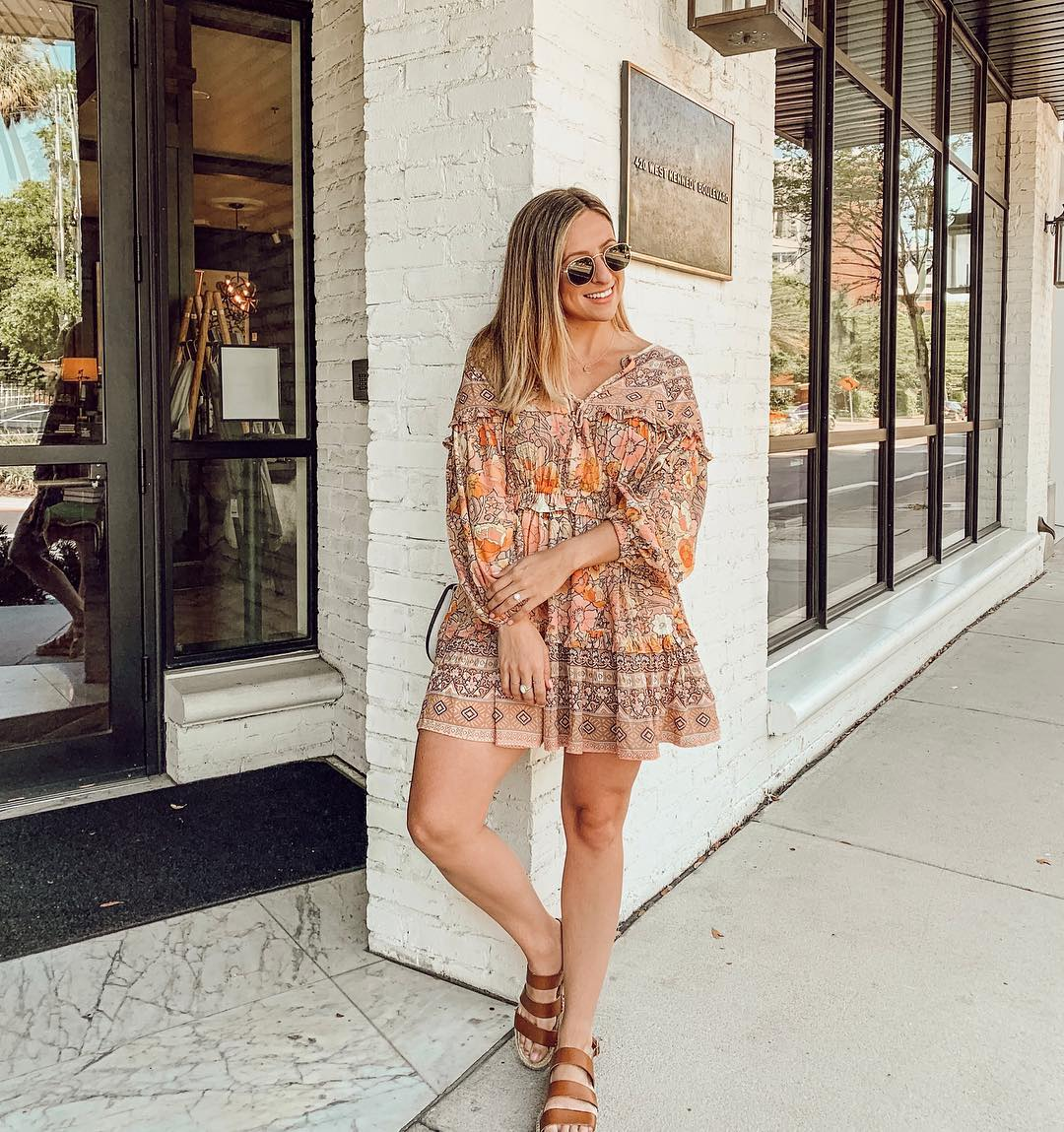casual bohemian mini dress