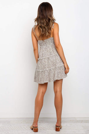 leopard print day dress