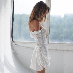 Pearl White Off The Shoulder Dress