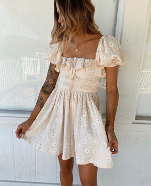 Open image in slideshow, Amorette Floral Embroidered Dress