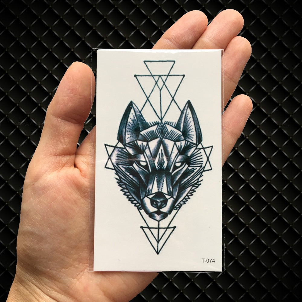 Geometric Wolf Loox Tattoo