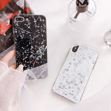 Load image into Gallery viewer, SILVER FLAKE BLACK MARBLE - Cases by Klein
