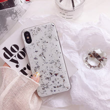 Load image into Gallery viewer, SILVER FLAKE WHITE MARBLE CASE - Cases by Klein
