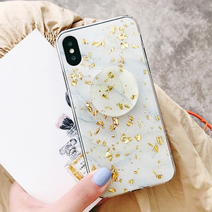 GOLD MARBLE FLAKE CASES - Cases by Klein