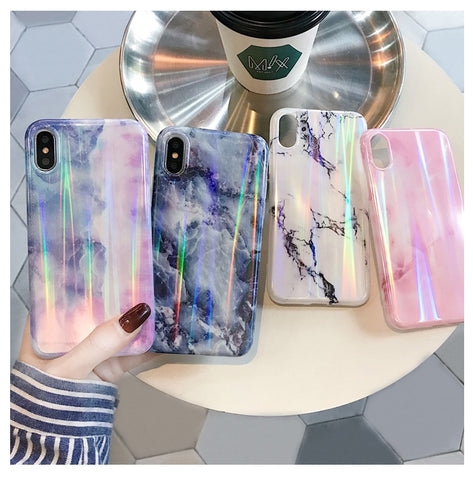 HOLO MARBLE CASE - Cases by Klein