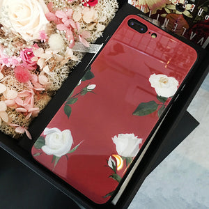 WINE RED FLORAL CASE - Cases by Klein