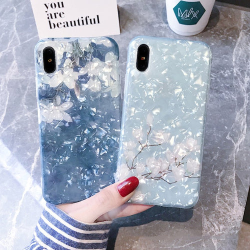 BLUE OPAL FLORAL CASE - Cases by Klein