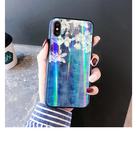 BLUE HOLO FLORAL CASE - Cases by Klein