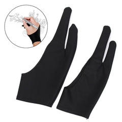 Kunstenaar Drawing Two Finger Glove For Graphics Drawing Pen Tablet Tracing Pad