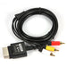 1.8 m 6ft audio video av rca video composiet kabel av-kabel koord voor microsoft xbox 360 slim voor xbox 360   ALLOYSEED