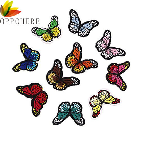 10 Stks bruiloft decoratie Naaien Patches Voor Kleding Multicolor Vlinder Borduren Patch Applicaties Badge Stickers Voor Kleding