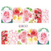12 Ontwerpen/Sets Water Overdracht Mooie Rose Decals Volledige Decals Nail Sticker Gemengde Kleurrijke Bloem Nail Art DIY Decor BN553-564   Full Beauty