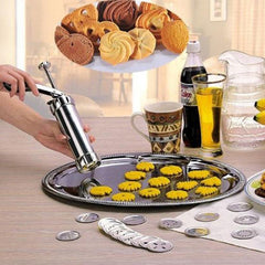 20 Mallen Cookie Biscuit Persen Machine 4 Nozzles Cookie Maker Pomp Persen Cookie Dessert Decorating Gereedschap