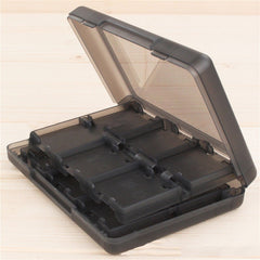 24 in 1 Zwart Plastic Game Card Case Houder Box Opslag Cartridge voor Nintendo 3DS/DS/DSI
