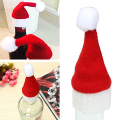 10st Christmas Wine Bottle Hat Christmas Dinner Table Decoration