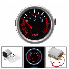 2 Inch 52 MM 12 V Wit & Rood LED Auto Boot 8-16 Voltmeter Volt Voltage Meter Meter