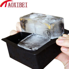 Big Size Ice Cube Vierkante Tray Mold Whiskey Cocktail Bevroren Ijs Maker DIY Grote Siliconen Black Party Bar Keuken Accessoires