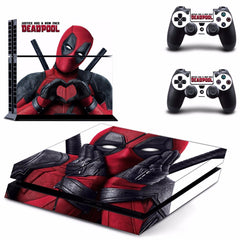 Deadpool Vinyl PS4 Skin Sticker voor Sony playstation 4 Console en Controller