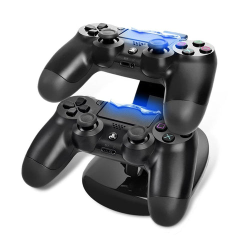 Dual USB Lading Dock Stand Dual Charger Controller stand met Micro Usb-oplaadkabel voor Sony Play station 4 PS4 Charger