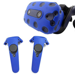 Voor Htc Vive Pro Vr Virtual Reality Headset Siliconen Rubber Vr Bril Helm Controller Handvat Case Shell Silicone Case Cover